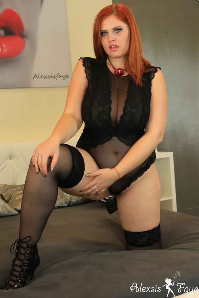 Alexsis Faye Black Lingerie Seduction