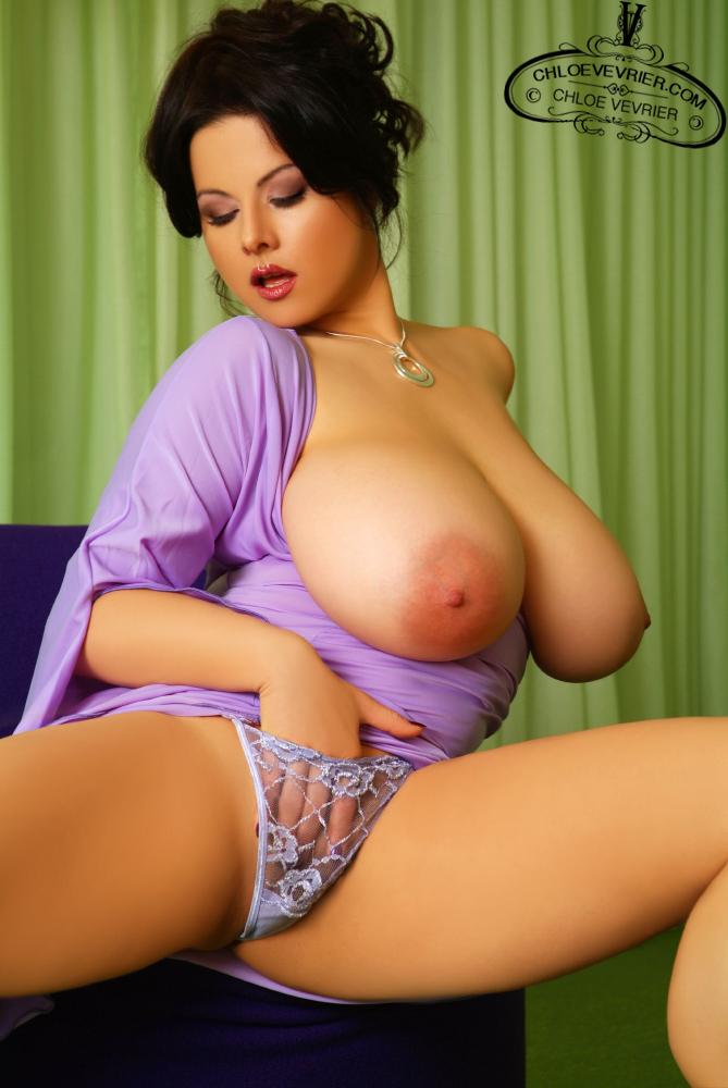 Chloe Vevrier Hot In Purple Dress