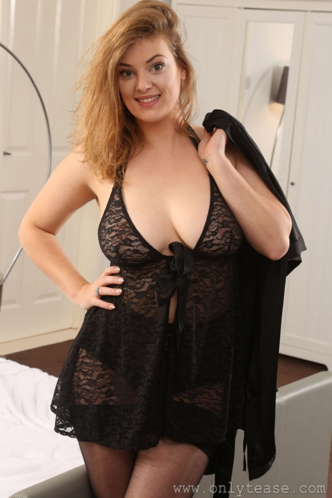 Lottii Rose Silk Robe Nudes Only Tease