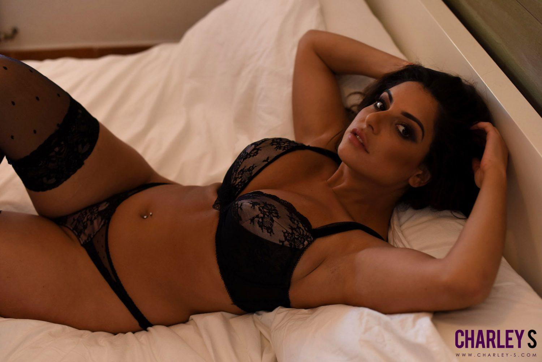Charley Springer Black Panties Bedroom