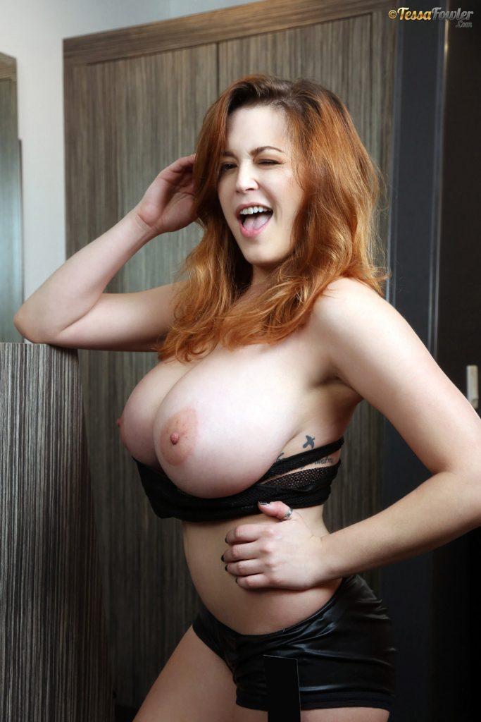 Tessa Fowler Fishnet and Boobs