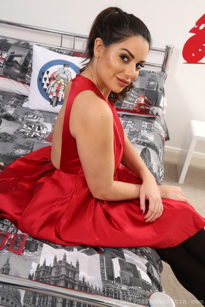 Charley Springer Silky Red Dress Only Tease