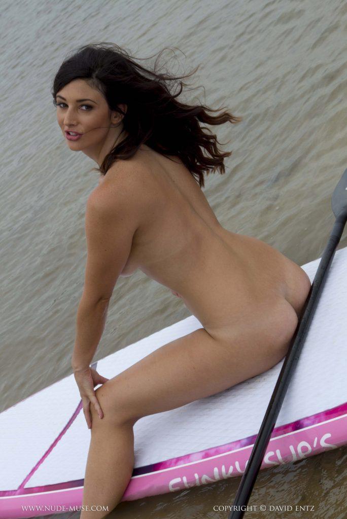 Scarlett Morgan Paddle Boarding Nude Muse