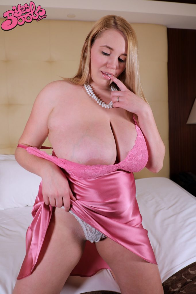 Annabelle Rogers Pink Lingerie Yes Boobs