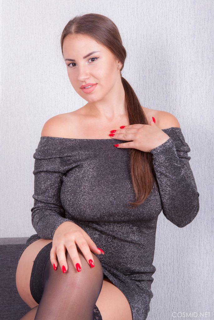 Alesya Romero Skin Tight Dress Cosmid