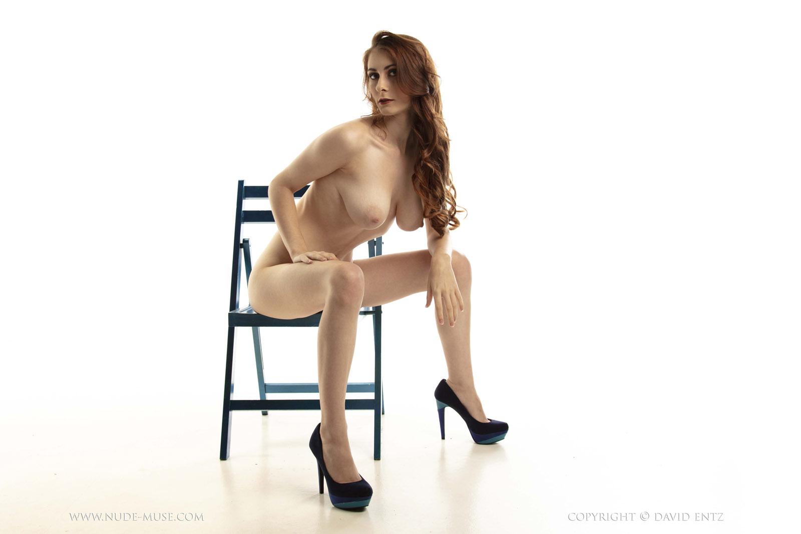 Amanda Blue Nude penni blue chair nude muse - curvy erotic