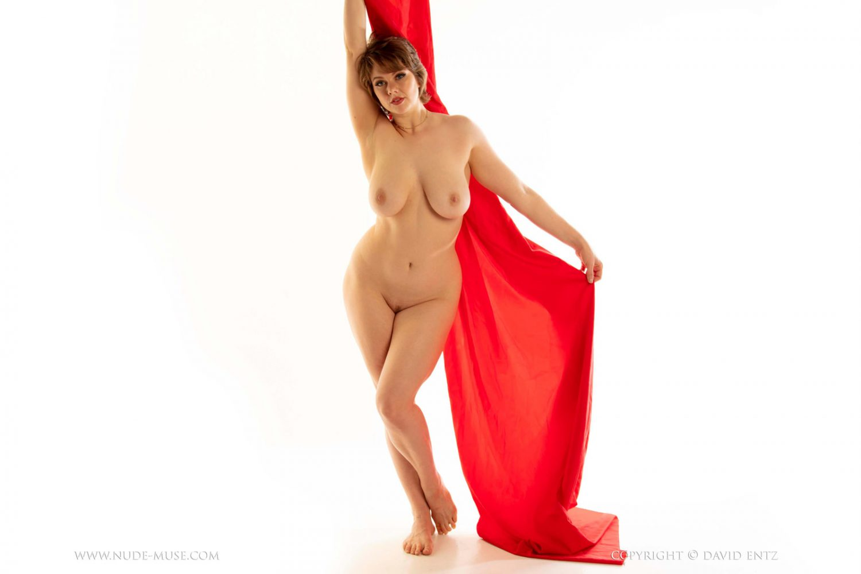 Ellie Xena Satin Art Nude Muse